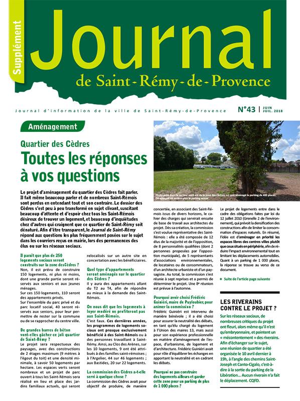 Journal de Saint-Rémy-de-Provence n°43 supplément