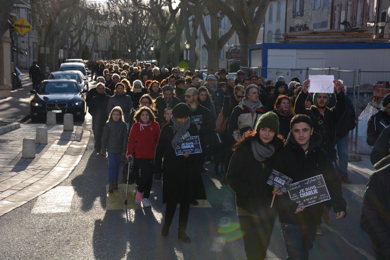 Hommage aux victimes des attentats parisiens, le 11 janvier 2015