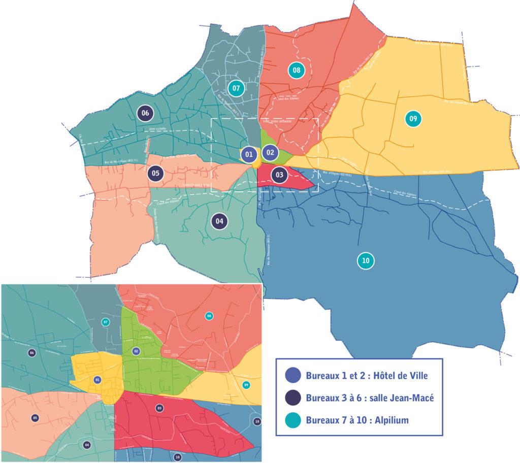 Carte bureaux de vote 13210