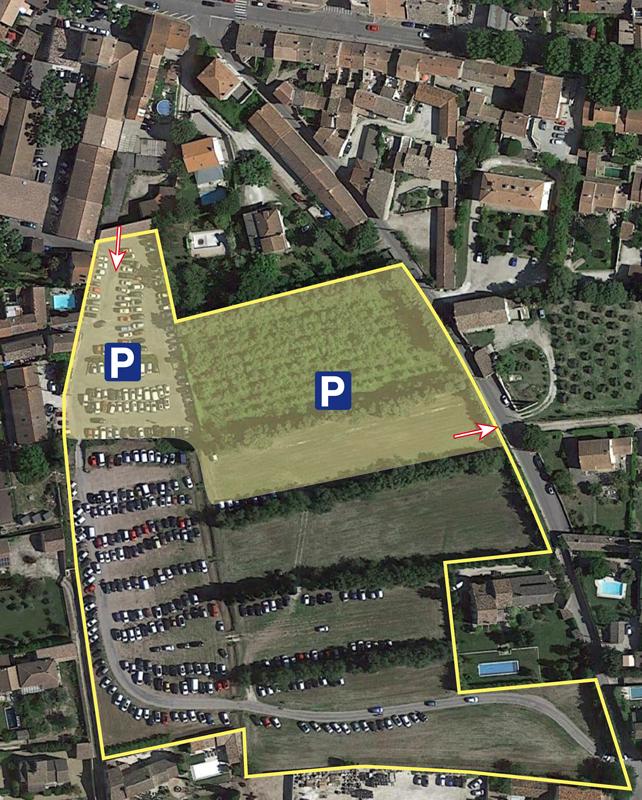 Situation du futur parking de la Libération