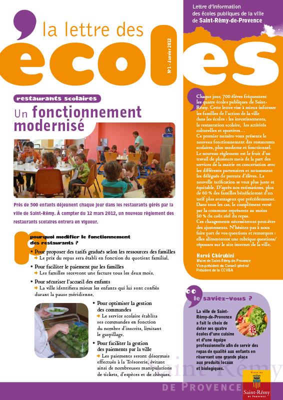 Lettre Ecoles 1