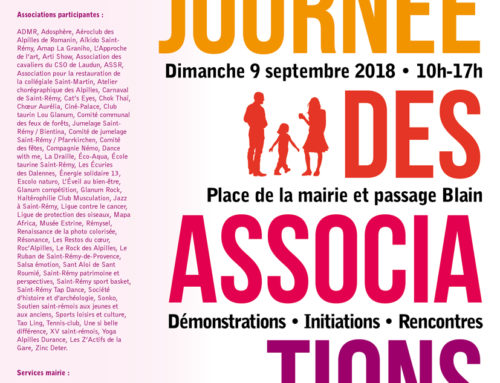 Rentrée associative le 9 septembre 2018