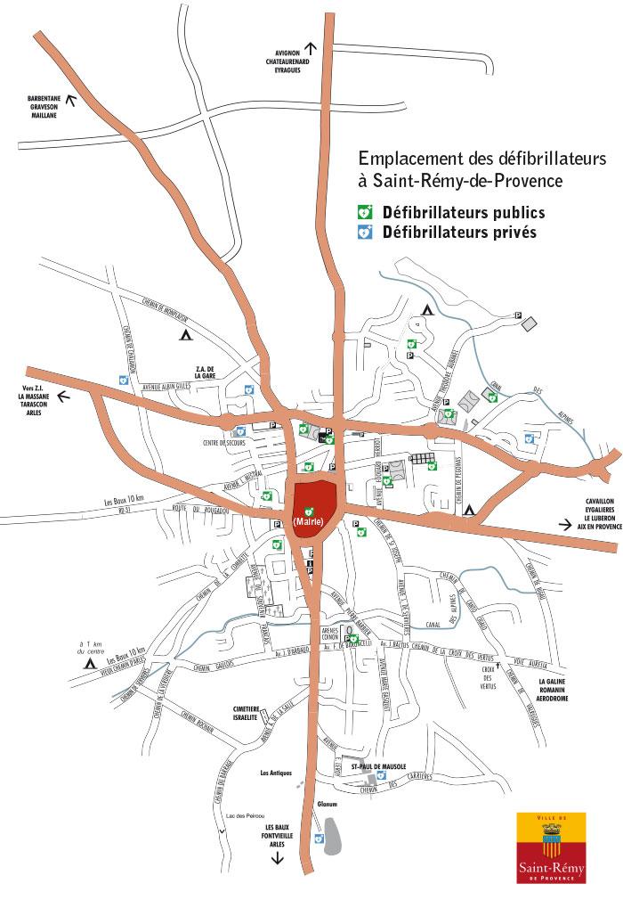 plan défibrillateurs Saint-Rémy-de-Provence