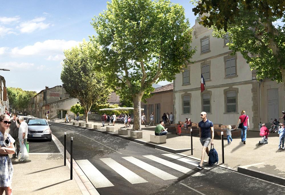 L'avenue de la Libération rénovée (simulation)