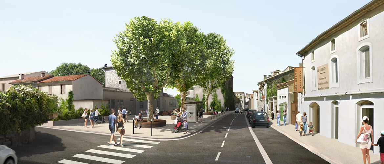 L'avenue de la Libération (simulation)