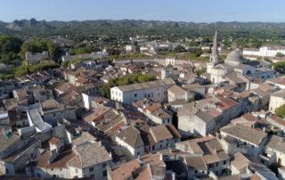 Saint-Rémy vue du ciel