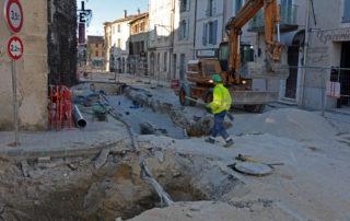 L'avenue de la Libération en travaux