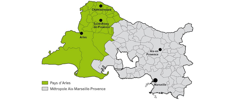 Pays d'Arles et métropole Aix-Marseille-Provence