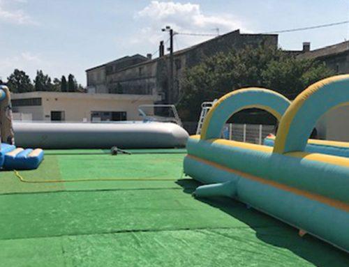 Deux nouveaux jeux aquatiques à la piscine municipale