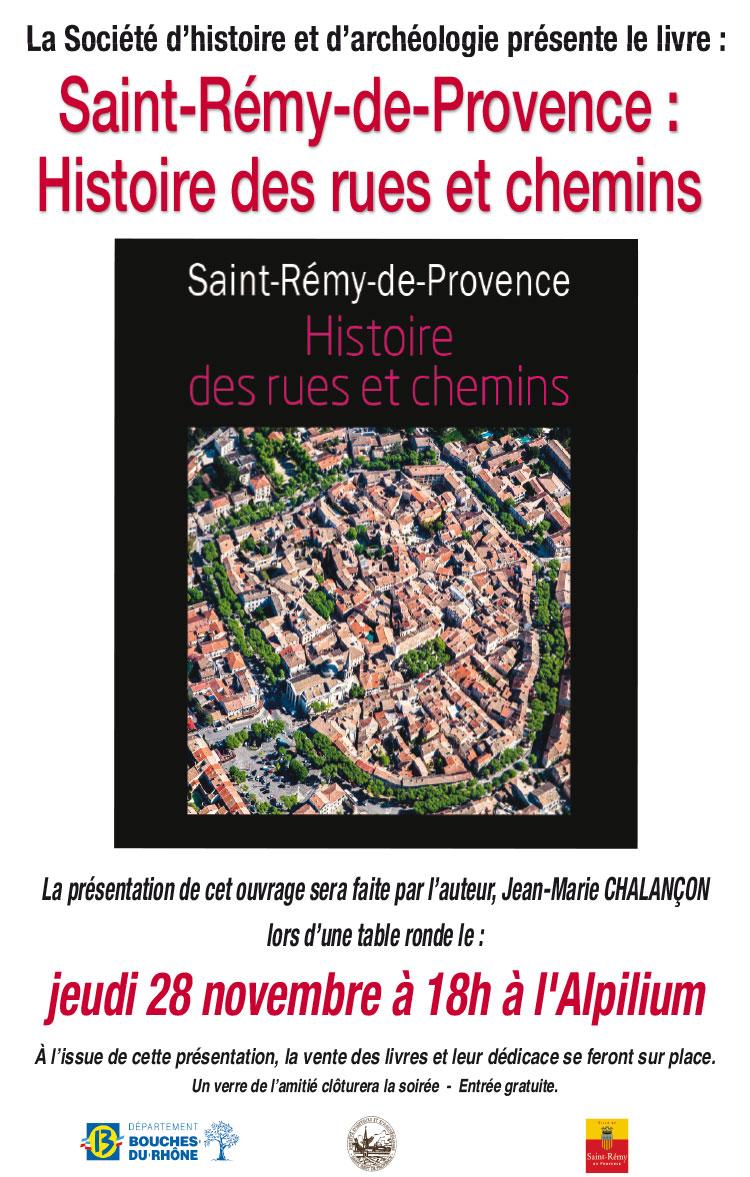 Presentation Du Livre Saint Remy De Provence Histoire Des