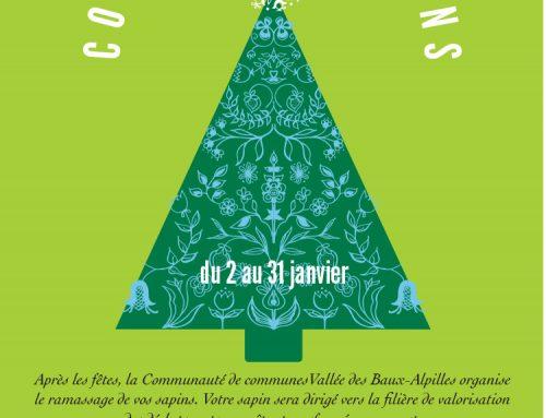 Collecte des sapins de Noël du 2 au 31 janvier 2021