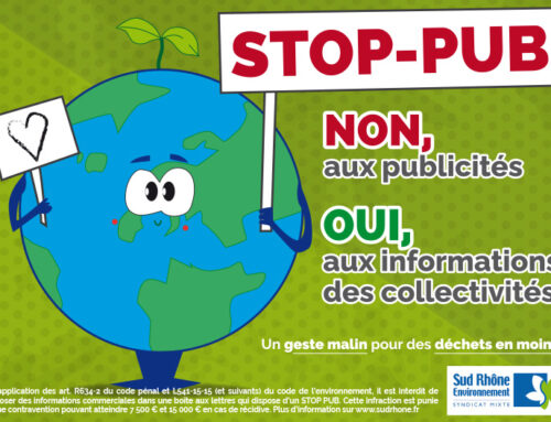 Distribution d'autocollants STOP PUB
