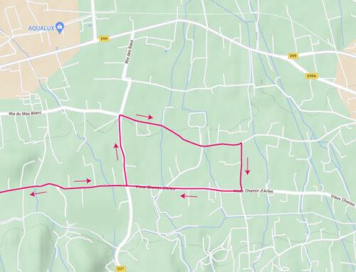 Passage de la course « 4 jours des As » le 2 septembre